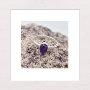 Jewelry - Natural Amethyst and Sterling Silver Ring | 7.5
